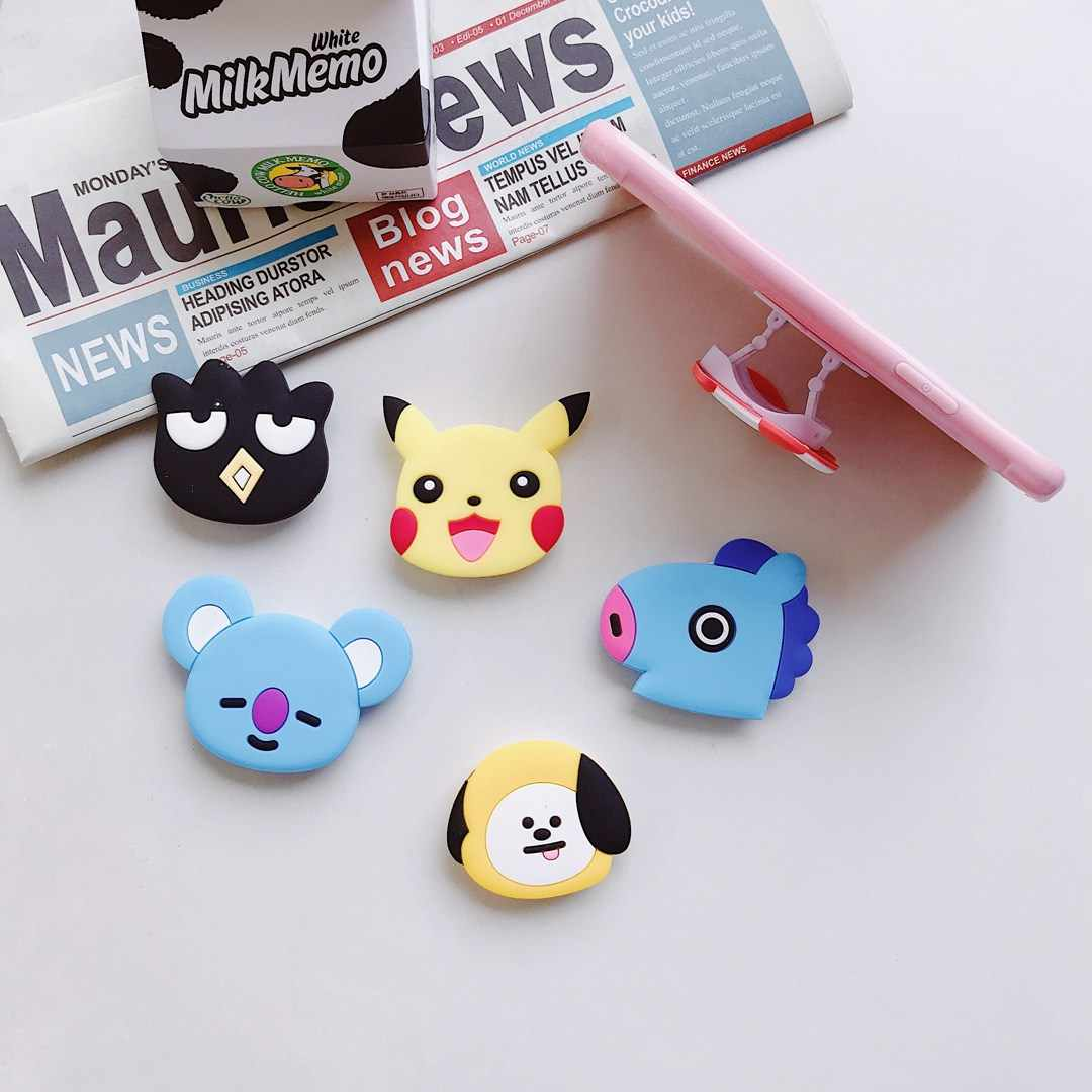 3D Cartoon stand outdoor Anti-fall Finger Ring Holder Universal Mobile Phone grip Expanding Holder Telescopic Holder Phone