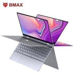 Bmax y13 360 portátil 13.3 polegadas notebook windows 10 8gb lpddr4 256gb ssd 1920*1080 ips intel n4120 portáteis da tela de toque