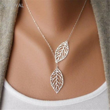 X-ROYAL Gold Silver Color Leaf Charm Women Chokers Collar Chain Adjustable Lovers Couple Gift Necklaces For Female Party Wedding