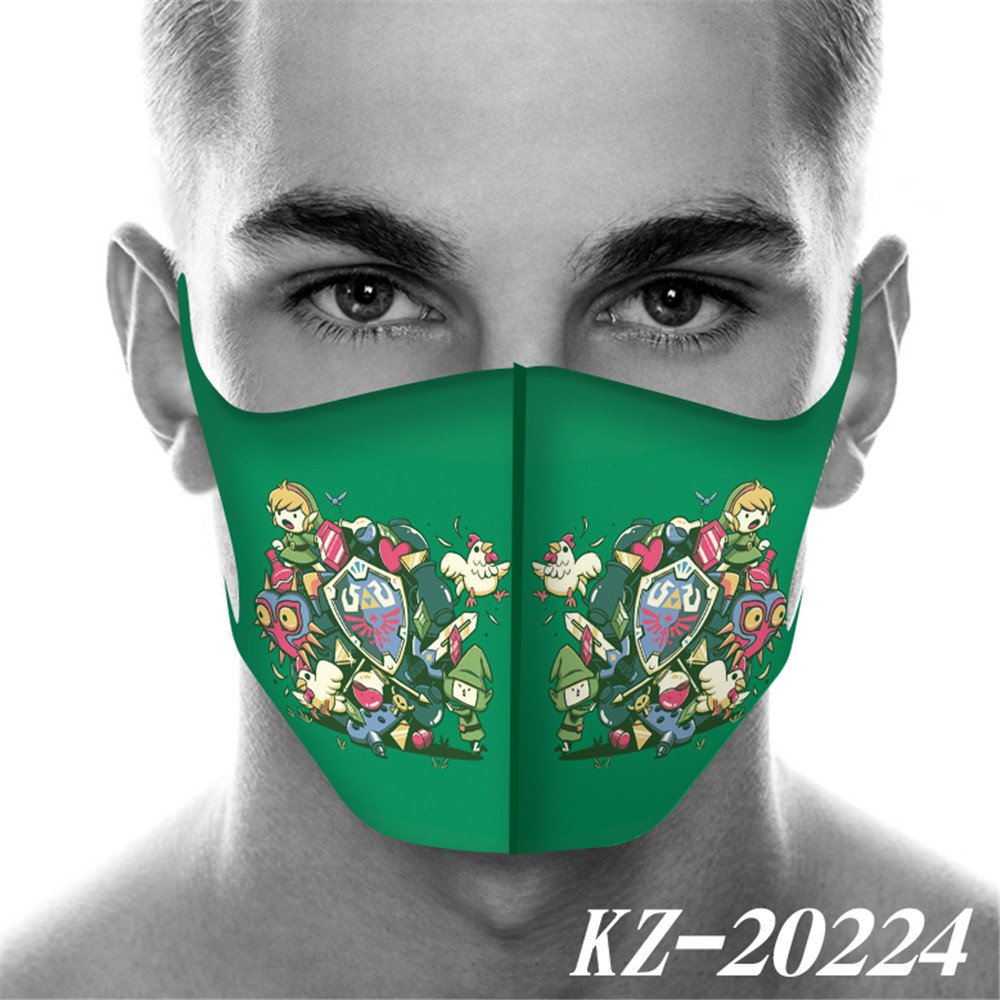Game The Legend Of Zelda Mouth Mask Breathable Face Mask Reusable Anti Pollution Wind Proof Mouth Cover Doctom
