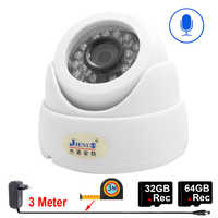 JIENUO Dome Ip Camera Wifi 1080P 720P HD 64G 32G Audio Indoor Night Vision CCTV Security Surveillance Network Wireless Home Cam