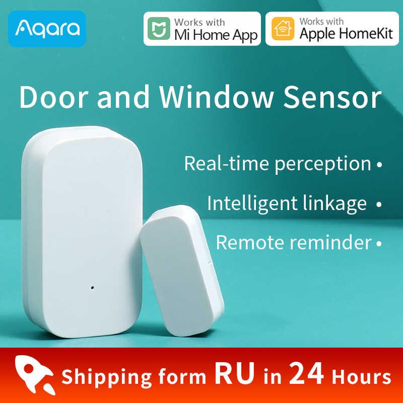 Aqara kapı pencere sensörü Zigbee sürümü Xiaomi Mijia akıllı ev Alarm sistemi akıllı kamera G2 için çalışmak HomeKit Mi ev uygulaması