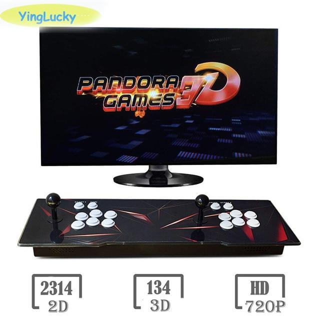 Yinglucky Pandora box 3d WiFi 8000 in 1 Arcade joystick Console Arcade Game  Device Dual HD VGA Interface TO TV PC