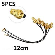 1 adet/5 adet 15.5cm/12cm IPX SMA dişi UFL SMA konnektör koaksiyel RF WiFi pigtail kablo konnektörleri