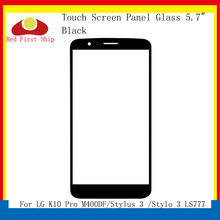 цена на 10Pcs/lot Touch Screen For LG K10 Pro M400DF/Stylus 3 /Stylo 3 LS777 Touch Panel Front Outer Stylo 3 LCD Glass Lens