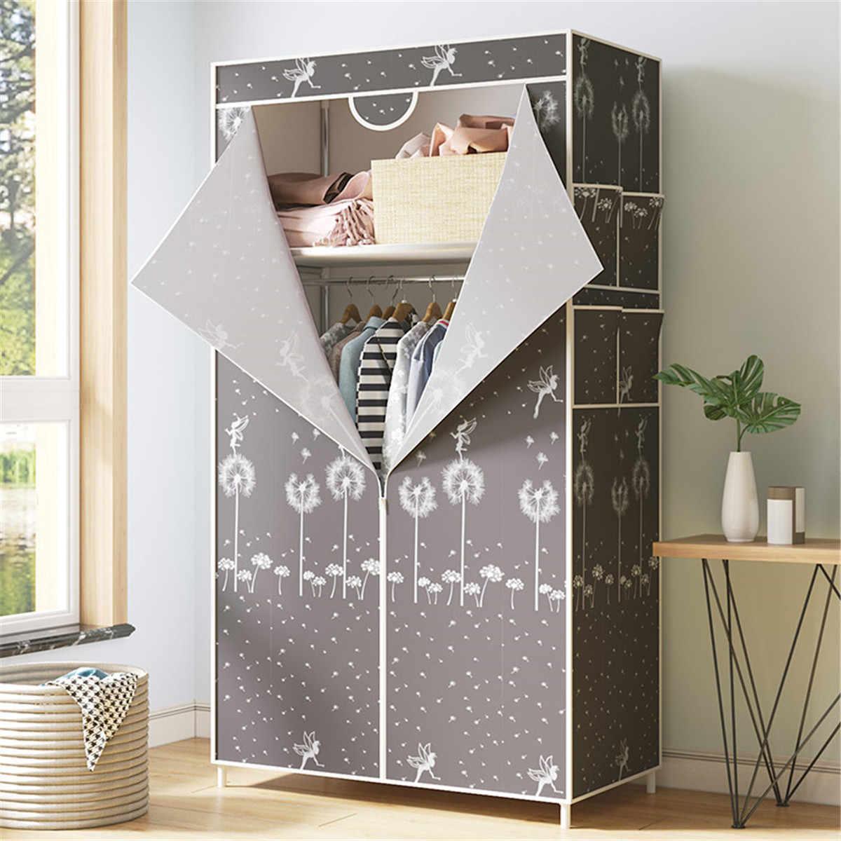 Modern Wardrobe Non Woven Fabric Folding Cloth Storage Cabinet Diy Assembly Moisture Dustproof Wardrobes Closet 70x45x160cm Wardrobes Aliexpress