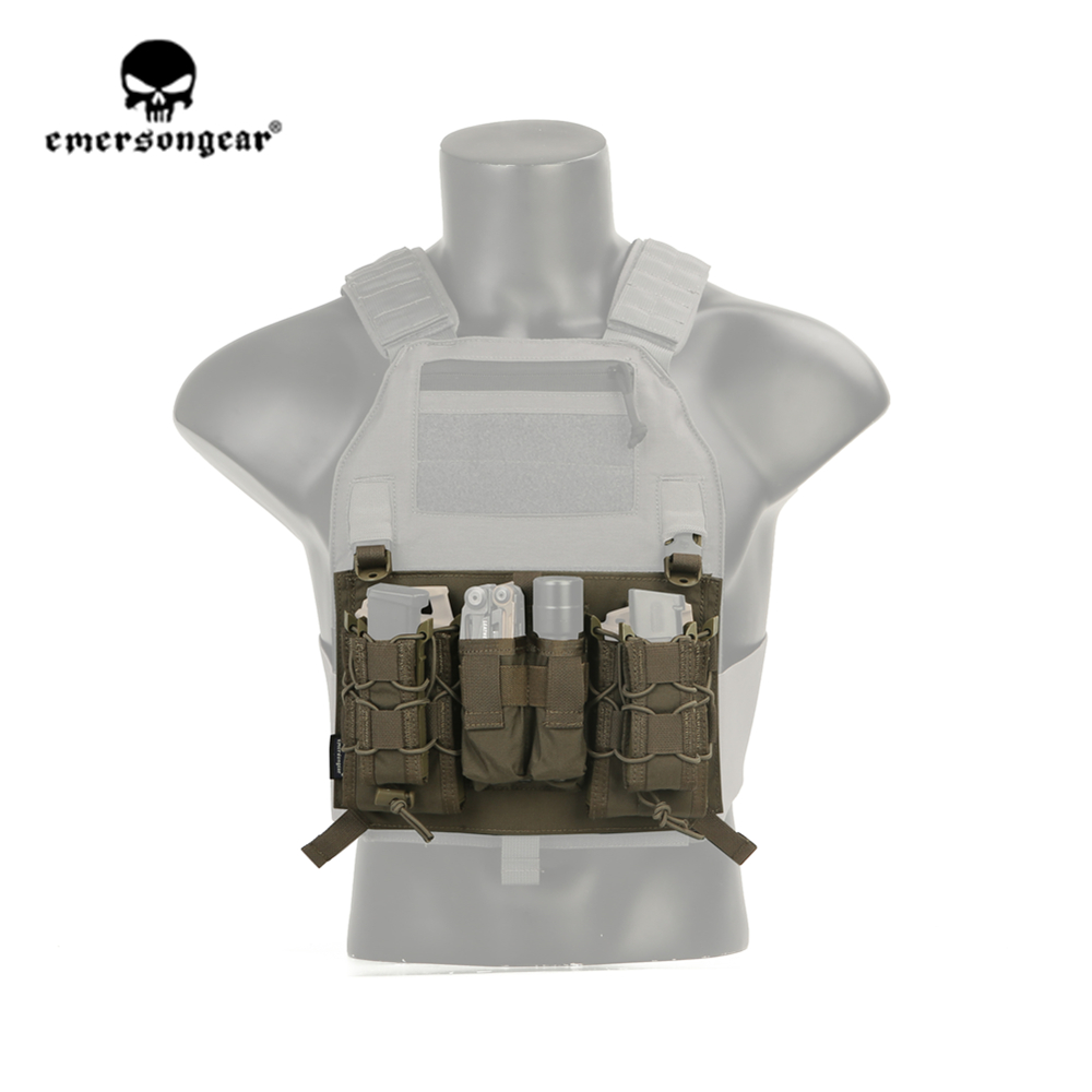 Emersongear Emerson Tactical Attacker Panel Pouch 5.56 Pistol Pouch For 419 420 Vest Military Airsoft CS Army Gear RG