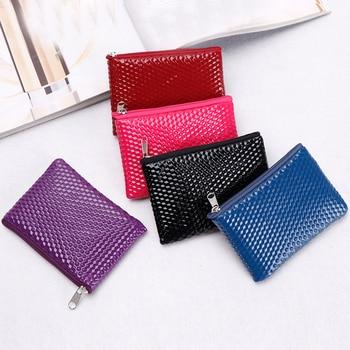 1PCS Mini Women's Purse Coin Holder Wallet Money Bags Leather Coin Key Card Wallet Zipper Change Case Purses Holder Small Pouch 1