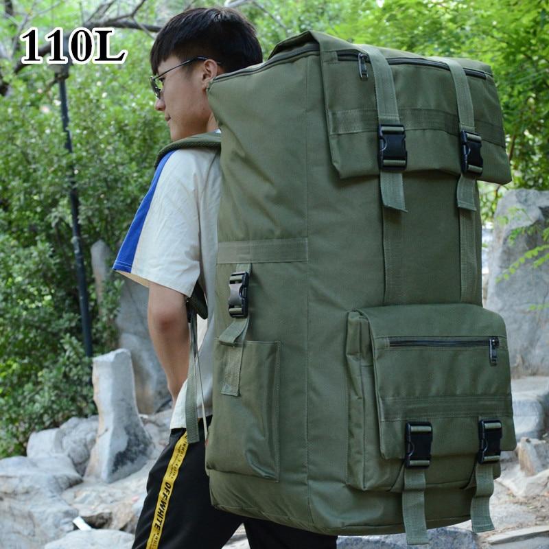 110L Outdoor Travel Hiking Backpack Men Women Trekking Climbing Camping Bag Large Capacity Camouflage Army Rucksack Luggage Bag