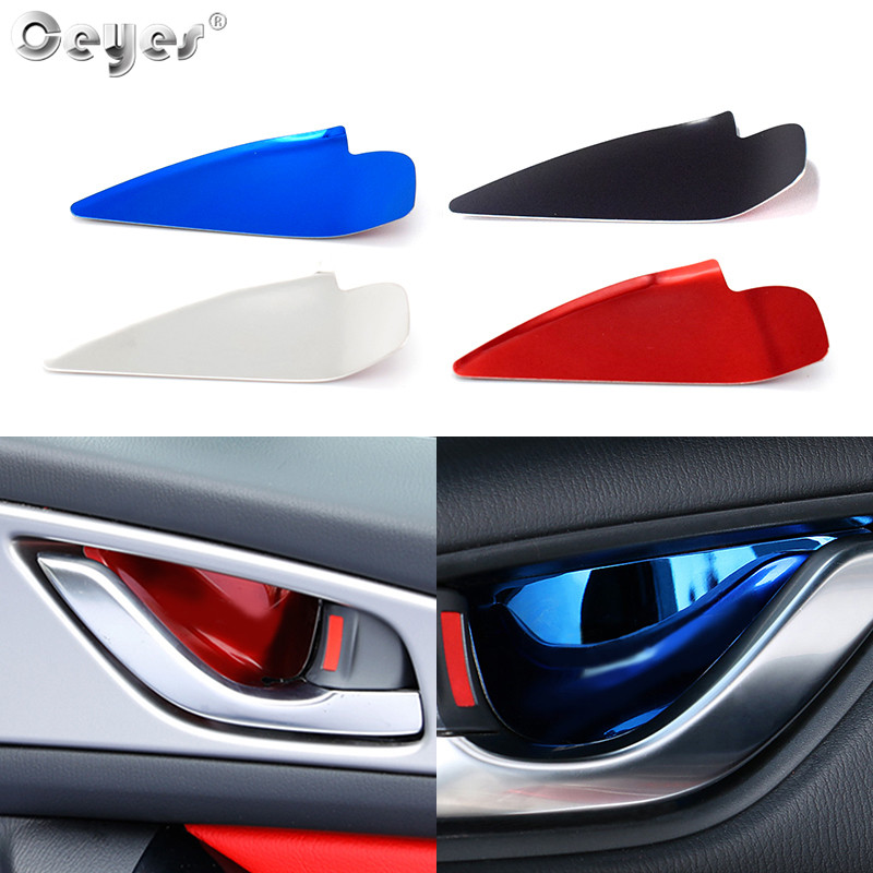 Ceyes 4pcs Car Accessories Door Bowl Handle Cover Fit For <font><b>Mazda</b></font> CX3 CX4 CX5 <font><b>CX</b></font> <font><b>3</b></font> Alela Atenza <font><b>2017</b></font> 2018 Car Styling Trim Sticker image