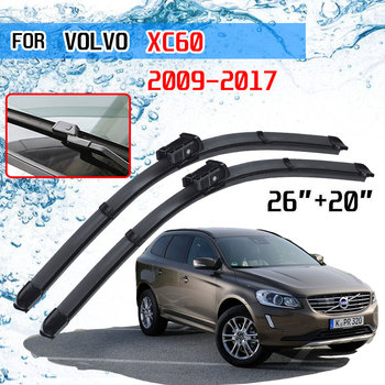 For VOLVO XC60 2009 2010 2011 2012 2013 2014 2015 2016 2017 Coaster XC 60 Accessories Car Front Windscreen Wiper Blades Brushes image