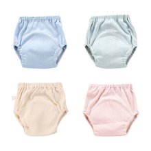 Miękkie pielucha dla niemowląt wielokrotnego użytku dla niemowląt spodnie treningowe bielizna wc szkolenia dla niemowląt zmywalny pieluchy maluch spodenki tanie tanio 9-14 kg 0-3 miesięcy 4-6 miesięcy 7-9 miesięcy Unisex Innych cotton