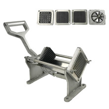 Stainless Steel Vegetables Cutter Potato Commercial French Fry Slicer Cutter with Blades