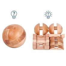 3D Ручная головоломка, игра, игрушки для мозга, Luban Lock, деревянные образовательные игрушка, разблокировка, игрушка, шарообразный замок, деревянная головоломка, диаметр для детей