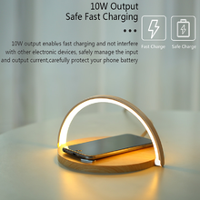 New night light wireless charger Table lamp fast charging holder home touch charging Stand for iphone Huawei Xiaomi Redmi Samsun