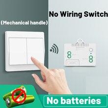 Interruptor sem fio auto-alimentado interruptor de botão de casa inteligente à prova dwaterproof água luz de controle remoto sem bateria sem fio necessário