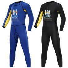 SBART/Новинка года; детский солнцезащитный купальник с длинными рукавами; костюм для подводного плавания; Спортивный костюм для мальчиков и девочек; гидрокостюм