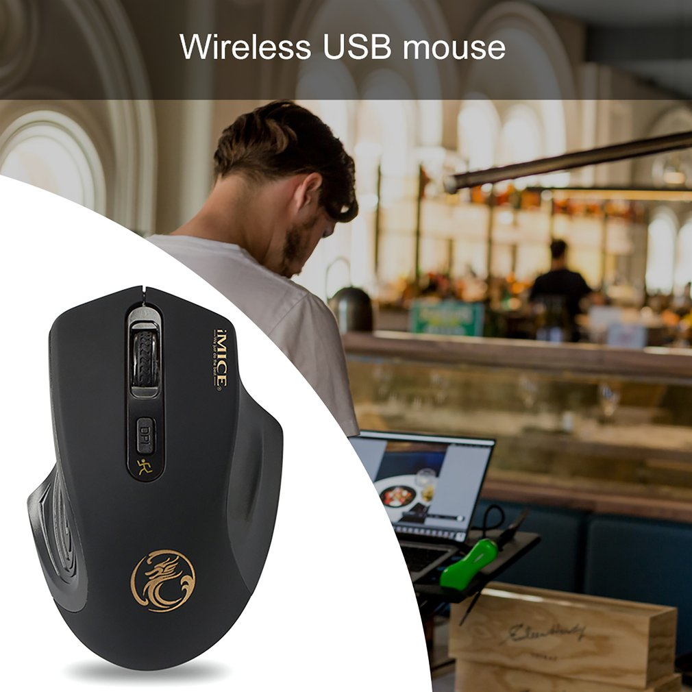 2019 High Quality  2000 DPI  LED Optical USB Wireless  Mouse Mice For Pro Gamer Professional Mouse Mice Cable Mouse