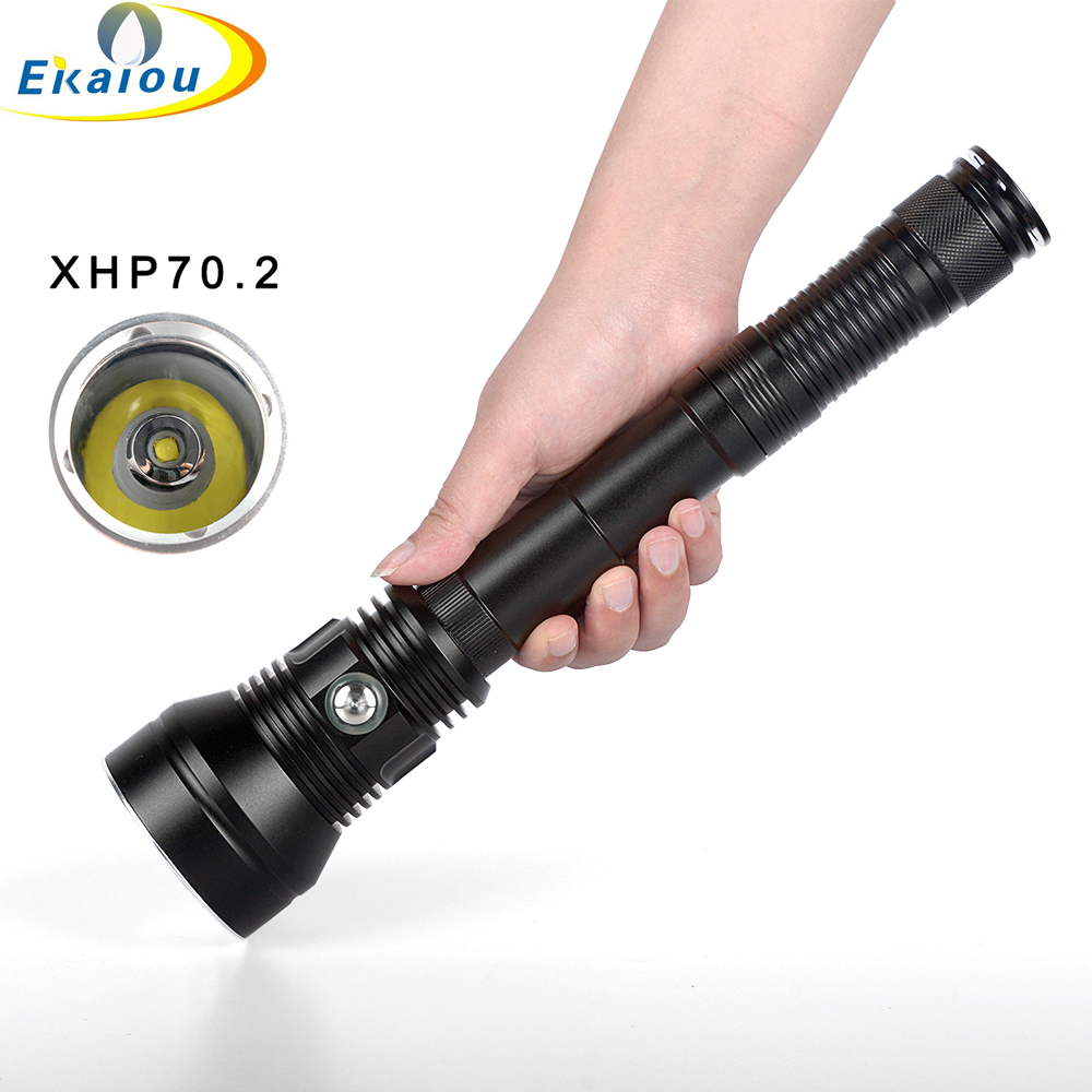 Latest XHP70.2 6000 Lumen Waterproof IPX8 LED Diving Flashlight Underwater 150m Dive Torch Diving Lamp For 3*26650 Battery