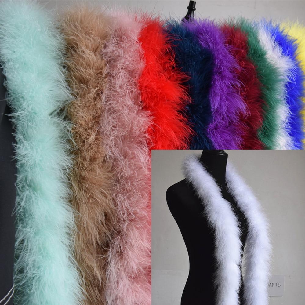 2M fluffy feather boa fancy costume party wedding dress soft python jewelry new