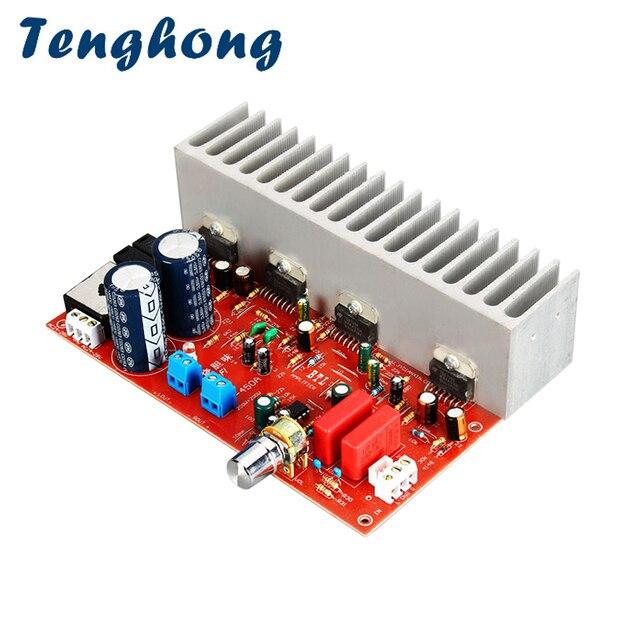 Tenghong TDA7294 Audio Power Amplifier Board 200W*2 HIFI Sound Amplifier For Speakers Stereo Amplificador AC24 28V 2.0 Channel