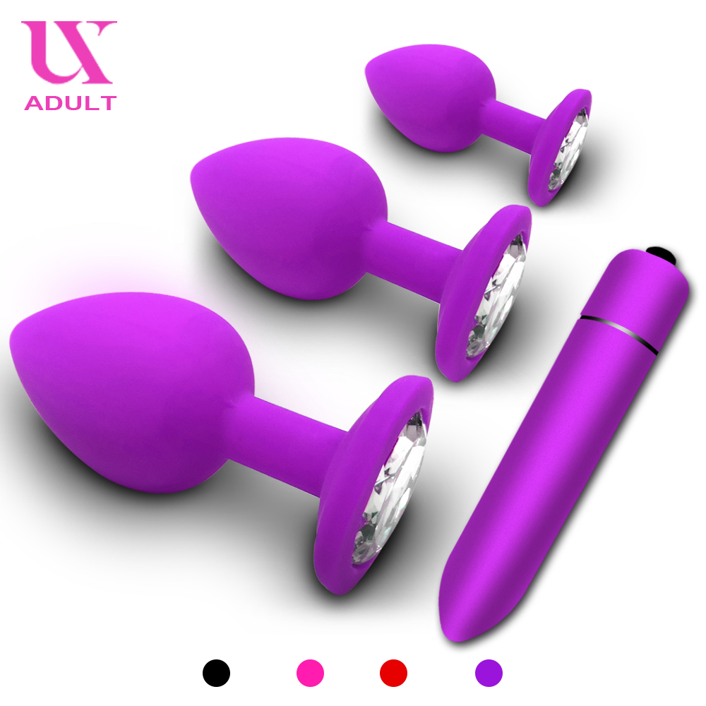 Butt <font><b>Anal</b></font> Plug Dildo Bullet <font><b>Vibrator</b></font> <font><b>Sex</b></font> <font><b>Toys</b></font> <font><b>for</b></font> Woman Silicone Prostate Massager Vibrador Butt Plug <font><b>For</b></font> <font><b>Men</b></font> Gay <font><b>Adult</b></font> Lesbian image
