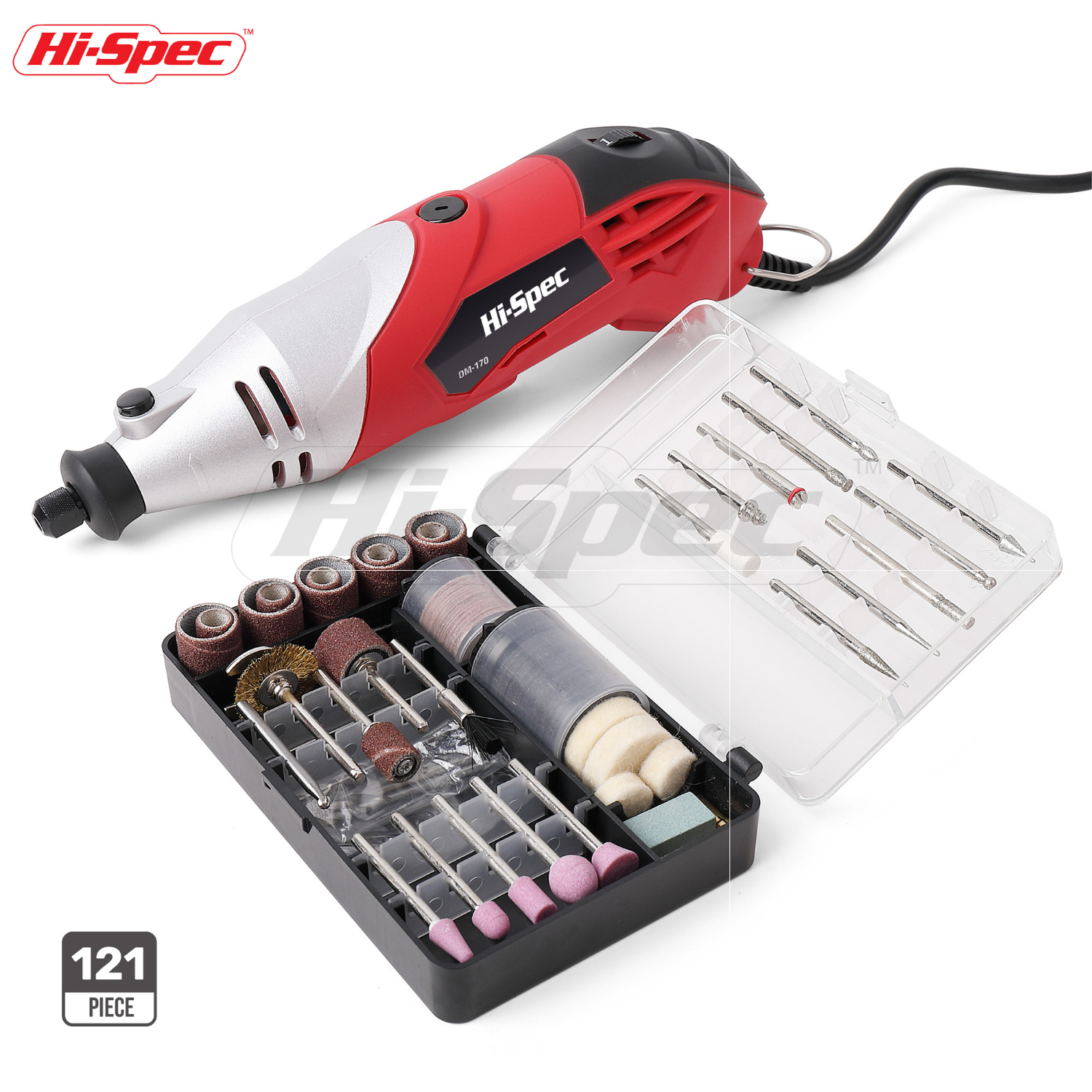 Hi-Spec 120pc 170W Power Tool Electric Drill Variable Speed Rotary Tool for Cutting, Crafting, Sander, Grinder, Engraver, DREMEL