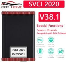 SVCI 2020 nowa wersja V38.1 regulacja przebiegu OBD2 odczyt klucza PIN nauka dla AUDI dla VW dla SEAT dla Skoda