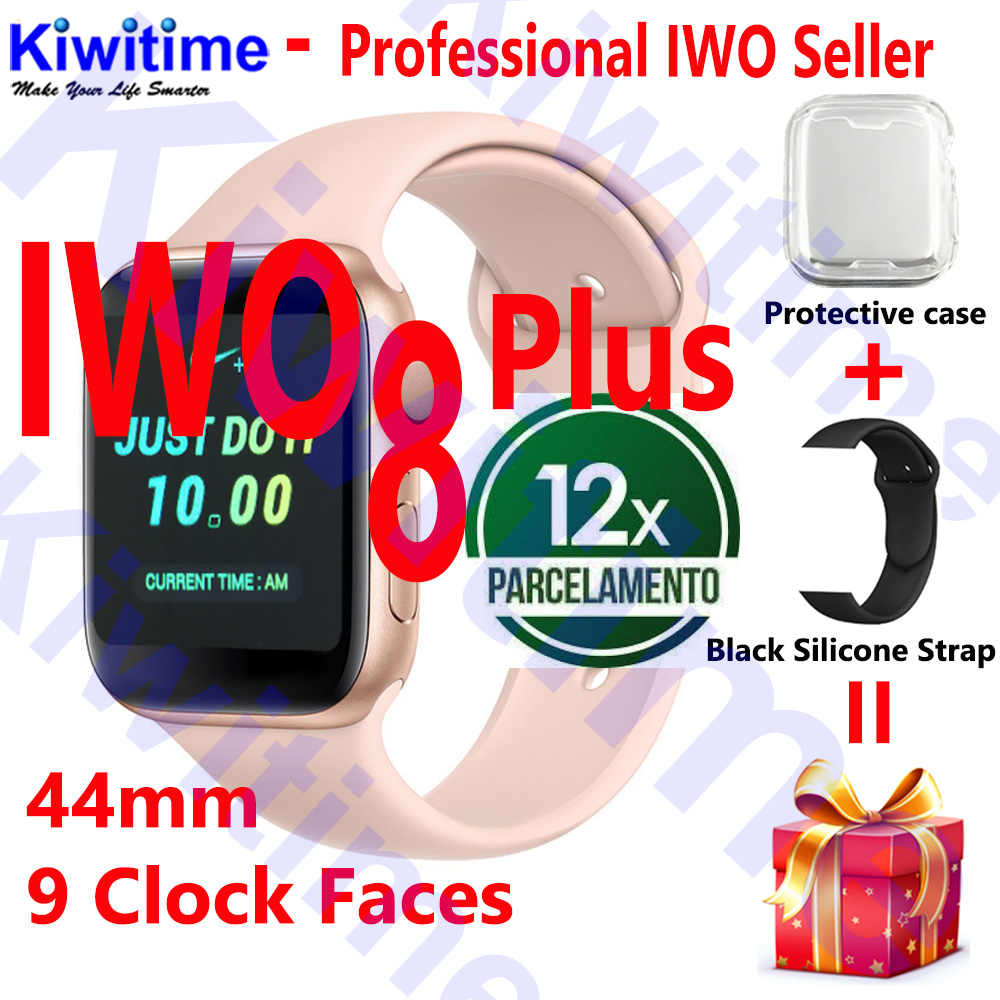 KIWITIME IWO 8 PLUS 44 мм часы 4 Смарт-часы для apple iPhone Android phone IWO 5 6 9 10 Обновление не apple Watch