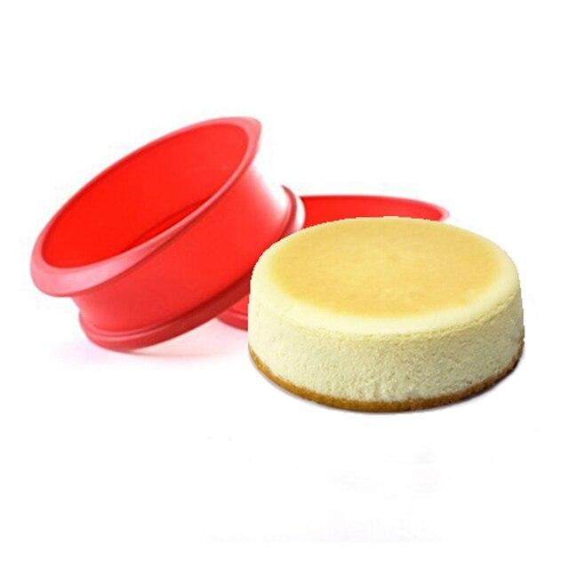 סיליקון Springform פאן עם זכוכית בסיס 3D Sugarcraft יצק עוגת שוקולד מאפין עובש Diy אפיית מאפה עובש