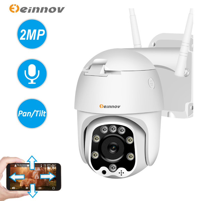 Einnov 1080P PT IP Camera Outdoor Wireless  Security Camera Surveillance Camara Wifi Two Way Audio CCTV Full Color Night View HD