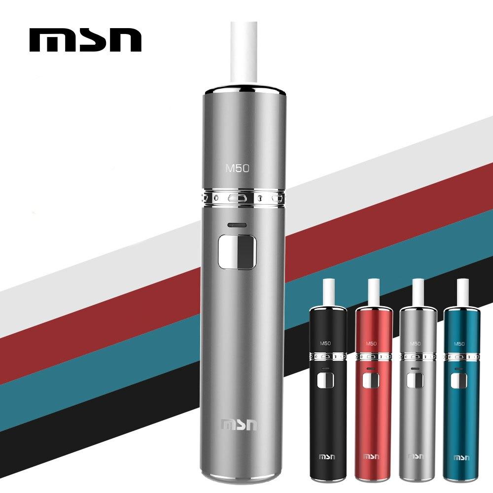 Origina MSN M50 chaleur pas brûler vaper atomiseur Kits de cigarettes électroniques compatibles avec Heets stick e-cig kit