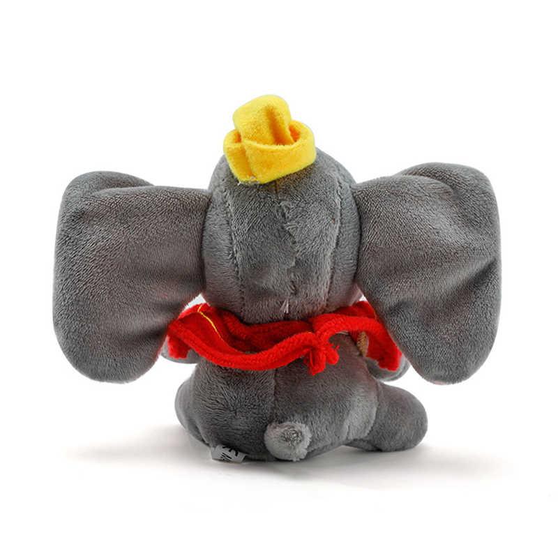 10cm חמוד דמבו פיל ממולא בעלי חיים בפלאש צעצוע קטן תליון יפה cartoon פיל בובת מציג לילדים מפתח שרשרת