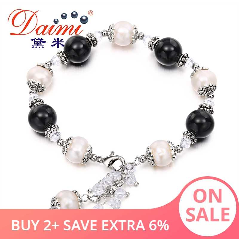 DAIMI Trendy Natural Pearl Bracelets Adjustable For Lady Summer Style