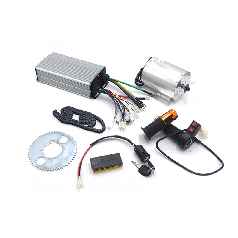 <font><b>Brushless</b></font> DC <font><b>Motor</b></font> Electric Vehicle With <font><b>Brushless</b></font> Controller Throttle Electric Bike Parts 72V <font><b>3000W</b></font> e bike Conversion Kit image