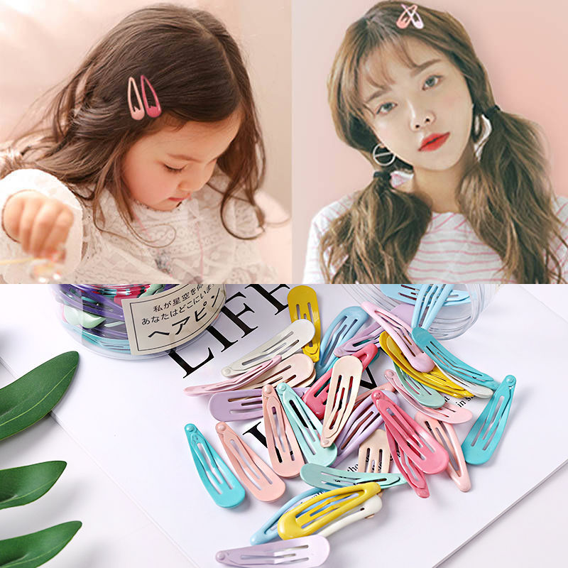 20/24/40 Pcs BB Clips for Girls Water Drop Hairpins Children Candy Color Cartoon Barrettes Ins New Fashion Hair Accessories
