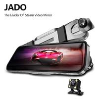 JADO D820s X2 Car Dvr Stream RearView Mirror dash Camera avtoregistrator 10 IPS Touch Screen Full HD 1080P Car Recorder dash cam