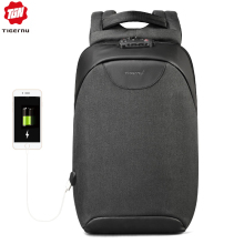 Men Backpacks Laptop Tsa-Lock Usb-Charging Anti-Theft College Fashion Boys No for 18L