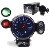 3.75''80mm Universal Blue Led Back Light Car Tachoscope Gauge Revolution Meter 12V Auto Truck Tachometer Digital Speedometer Car