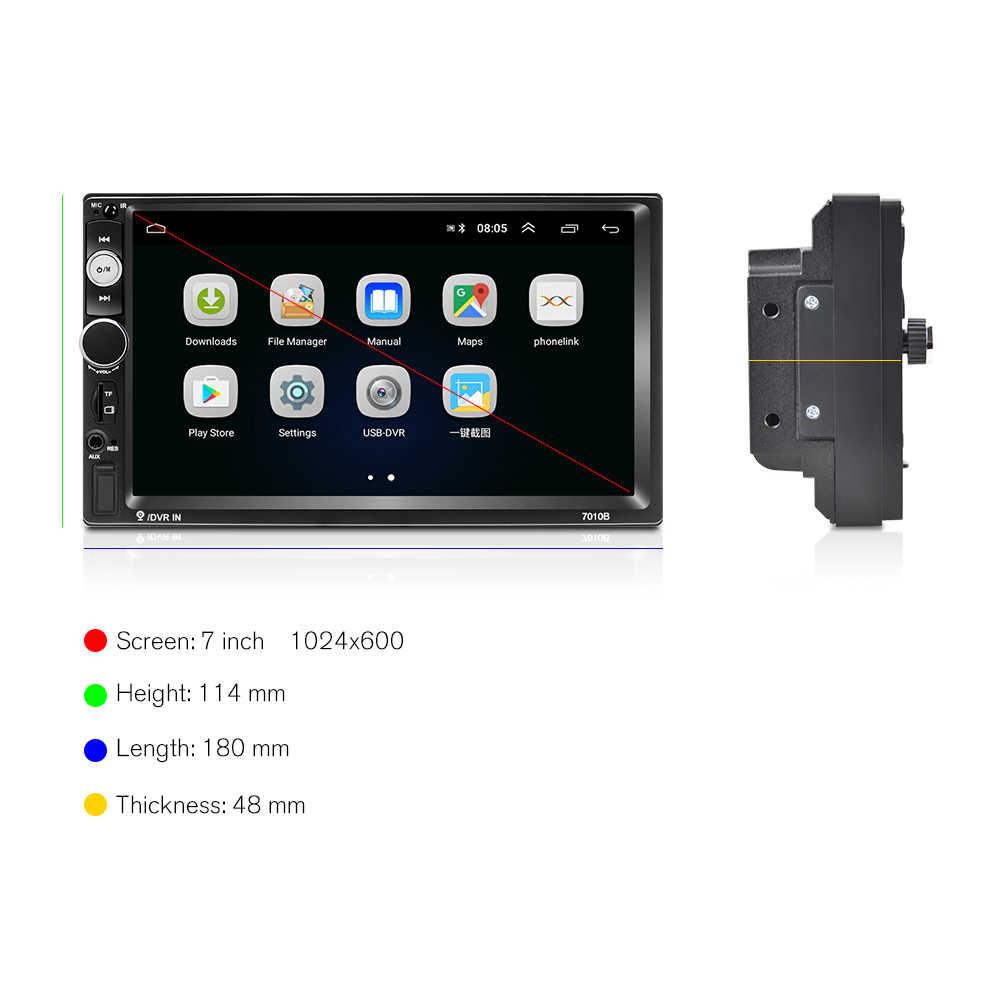 """Hikity 2 Din Radio samochodowe Android 8.1 7010B GPS 7 """"HD Radio samochodowe odtwarzacz multimedialny Wifi Mirrorlink Radio dla Hyundai Nissian toyota"""