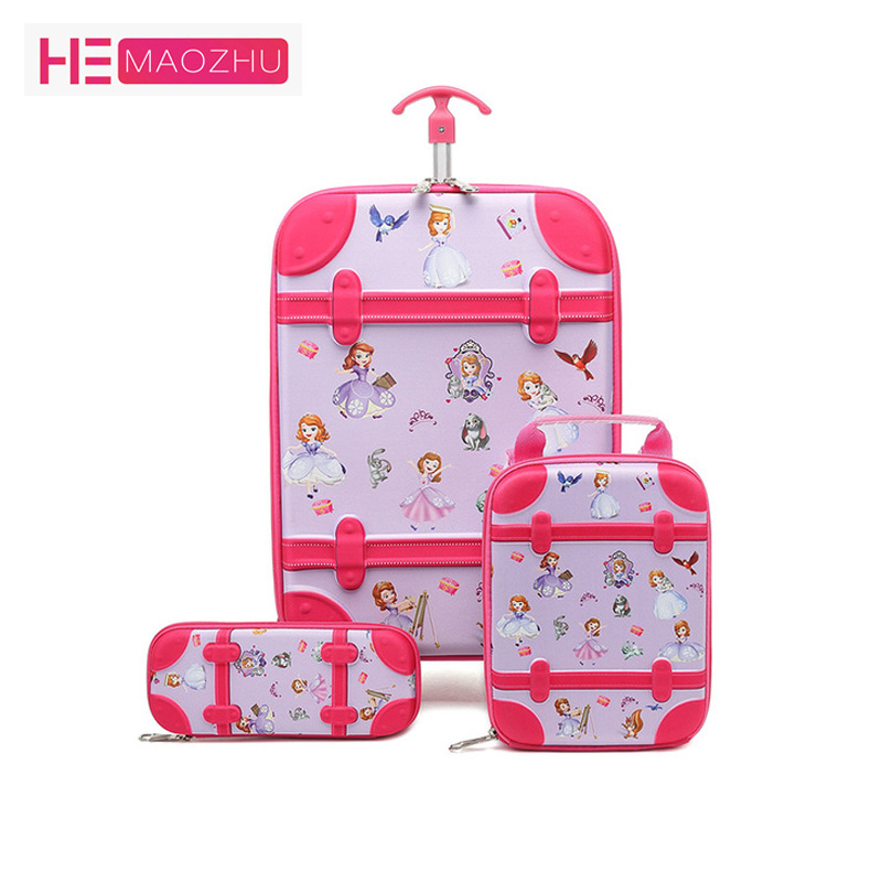 The New Children Backpacks Kids School Bag With Wheel Trolley Luggage For Boys Girls Backpack School Bags New Children's Gift1-5