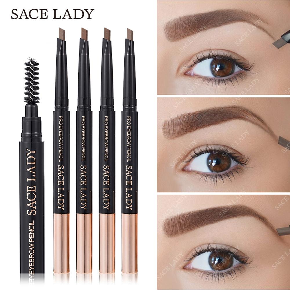 SACE LADY <font><b>Eyebrow</b></font> Pencil Professional Make Up Set Waterproof Cosmetics Makeup Kit Double Ended Eye Brow <font><b>Tatoo</b></font> <font><b>Pen</b></font> For <font><b>Eyebrow</b></font> image