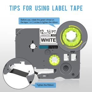 Image 3 - 5PCS 12mm Black on White TZe 231 TZ2 231 Label Tapes Compatible for Brother p touch PT200 1000 D210 H110 E110 Label Printer PUTY