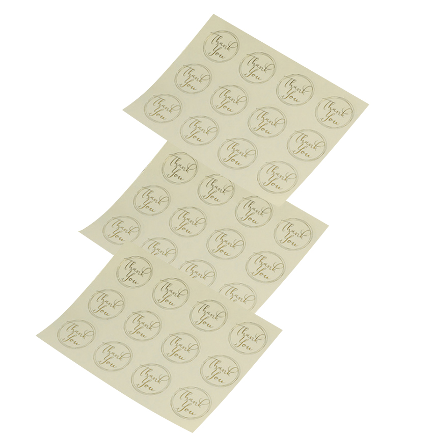120Pcs/pack Transparent Round Bronzing Thank You Scrapbooking Paper Labels Seal Stickers