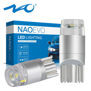 NAO t10 led Bulb w5w LED Car DRL 3030 SMD 5W5 194 168 COB Clearance Lights Reading Interior Auto Lamp 12V 6000k White Yellow Red(China)