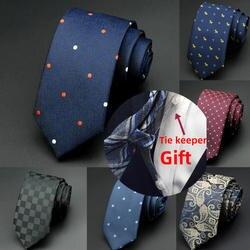 GUSLESON 1200 Вышивка крестом иглы 6 см для мужчин s Галстуки Новый Человек Мода Dot Галстуки Gravata жаккардовые тонкий галстук бизнес зеленый