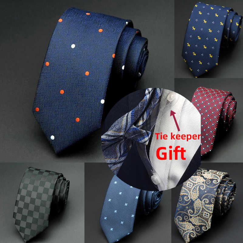 GUSLESON 1200 Iğneler 6cm Erkek Bağları Yeni Adam Moda Nokta Kravat Corbatas Gravata Jakarlı Ince Kravat Iş Yeşil Kravat erkekler için