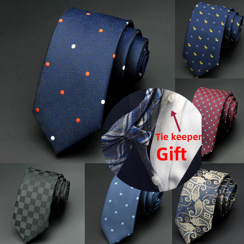 GUSLESON 1200 Needles 6cm Mens Ties New Man Fashion Dot Neckties Corbatas Gravata Jacquard Slim Tie Business Green Tie For Men