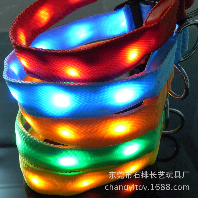 [Price Favorably] Europe Chao Liang Deng With LED Glowing Dog Collar Night Light Flash Dog Collar Pet Supplies