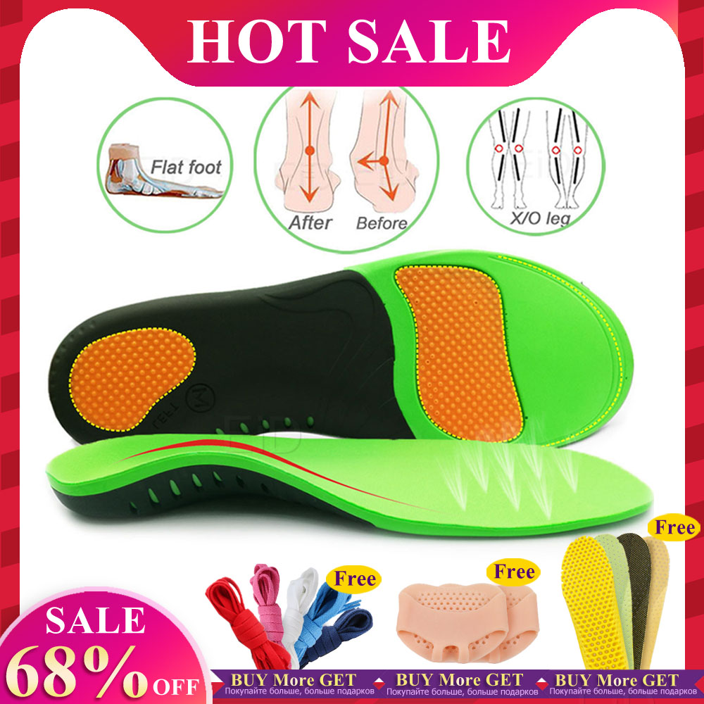 Plus Size High Quality EVA Orthotic Insole For Flat Feet Arch Support Orthopedic Shoes Sole Insoles For Men And Women Shoe Pads